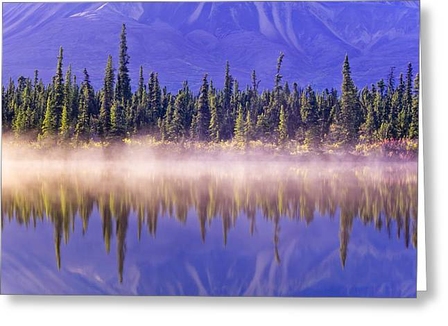 Forest Reflects In Drashner Lake Wmist Greeting Card