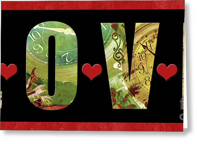 Forever Love Greeting Card by Claudia Ellis