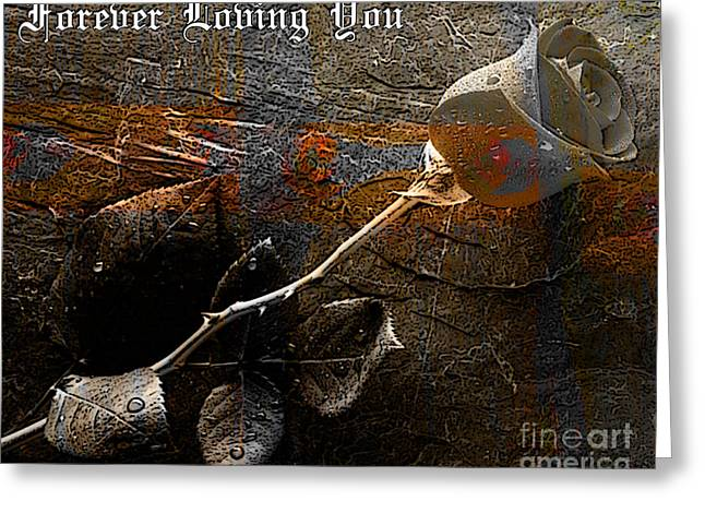 Forever Loving You Greeting Card by Marvin Blaine
