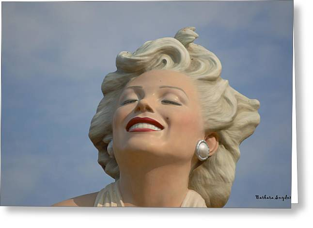 Forever Marilyn Detail Greeting Card by Barbara Snyder