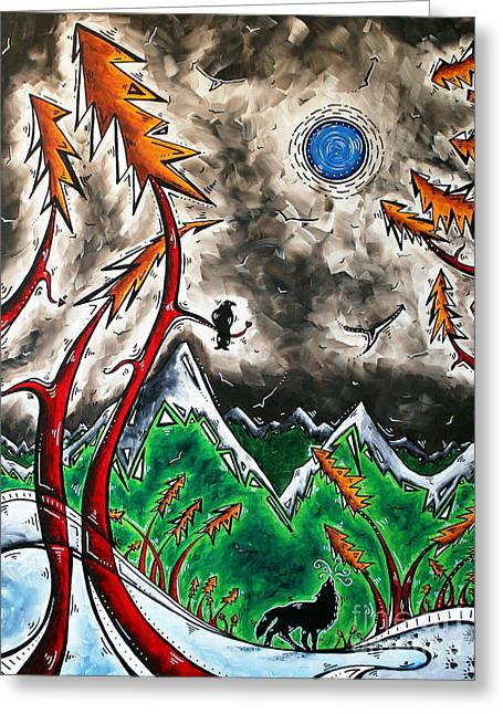 Forever Wild Original Madart Painting Greeting Card by Megan Duncanson