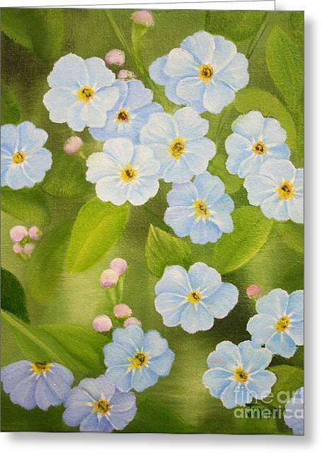 Forget Me Nots Greeting Card by Jimmie Bartlett