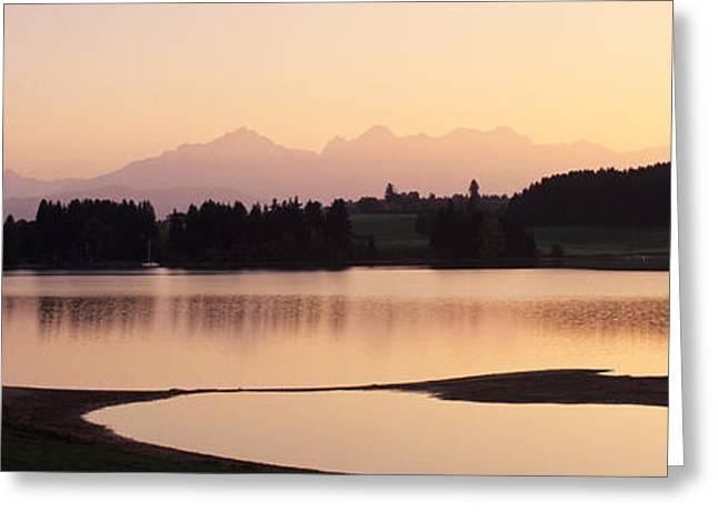 Forggensee Lake And Allgau Alps Greeting Card