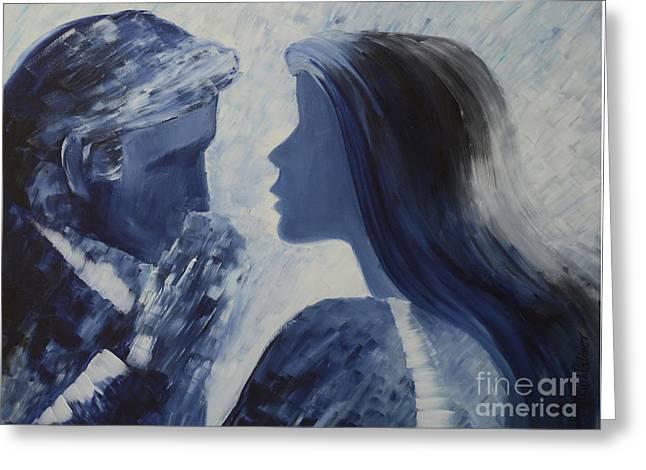 Forgiveness Kiss Greeting Card by Roni Ruth Palmer