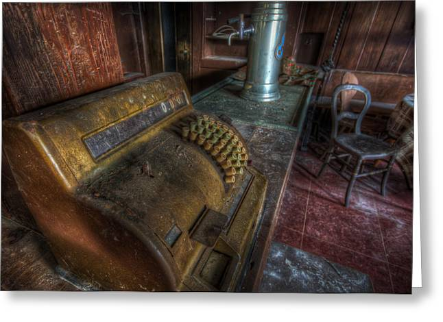 Forgotten Bar Greeting Card by Nathan Wright