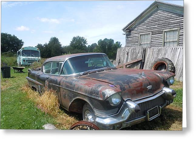 Forgotten Cadillac Greeting Card by James Guentner