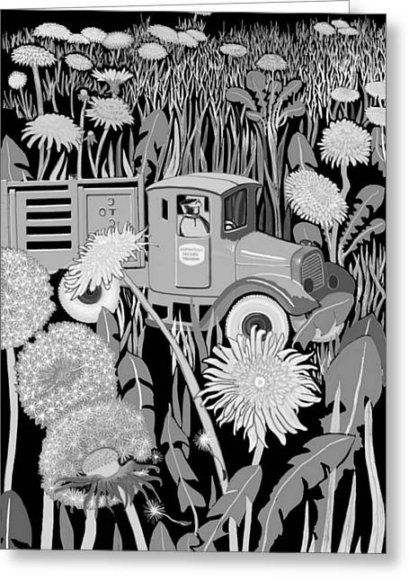 Greeting Card featuring the drawing Forgotten by Carol Jacobs