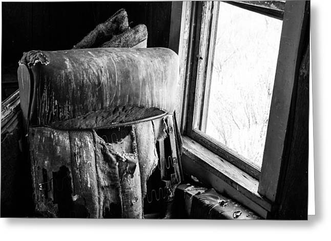 Forgotten Chair By The Window Greeting Card by Nathan Hillis