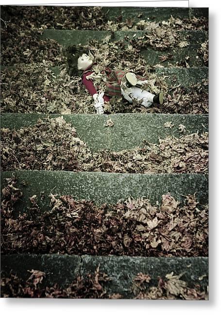 Forgotten Doll Greeting Card by Joana Kruse