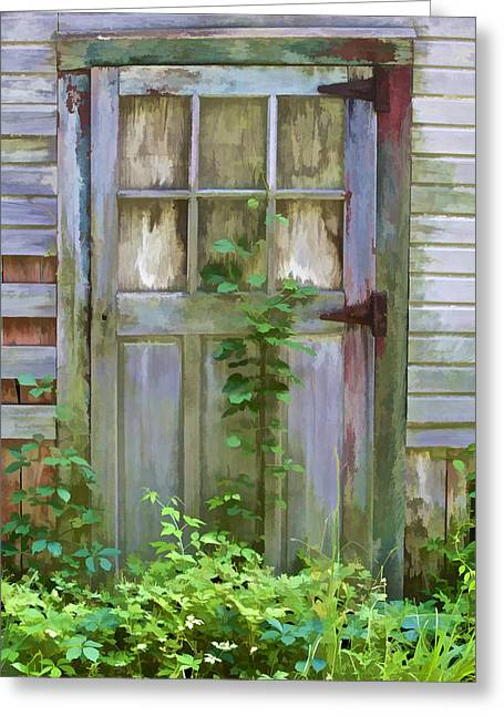 Forgotten Door Greeting Card by David Letts