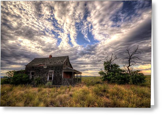 Greeting Card featuring the photograph Forgotten House by Matt Hanson