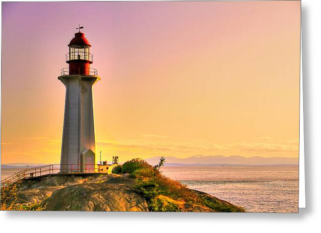 Forgotten Lighthouse Greeting Card by Eti Reid