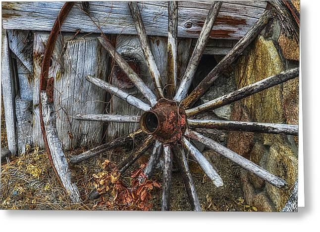 Forgotten Wheel Greeting Card