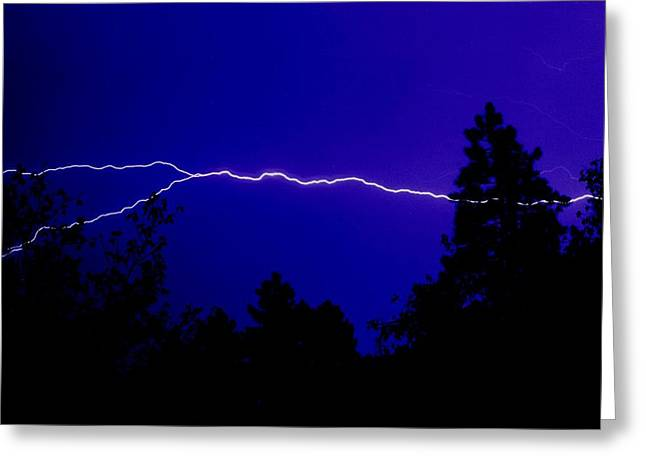 Forked Lightning Greeting Card by Alfredo Martinez