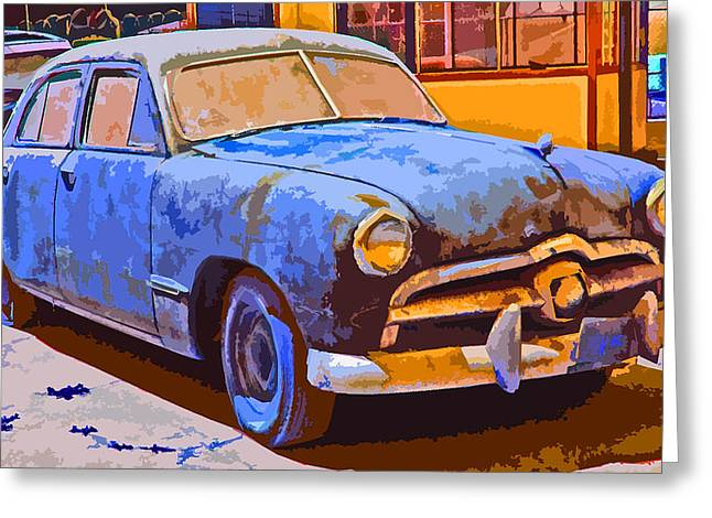 Forlorn 1949 Ford  Greeting Card by Samuel Sheats