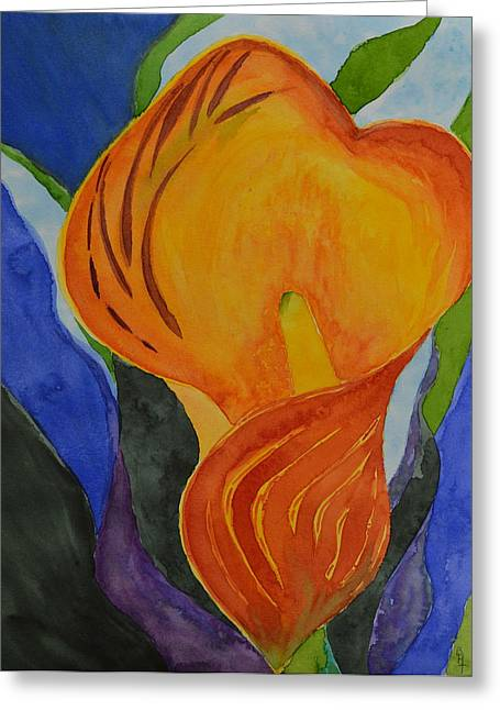Form Greeting Card by Beverley Harper Tinsley