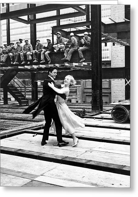 Formal Couple Dancing Outdoors Greeting Card by Underwood Archives