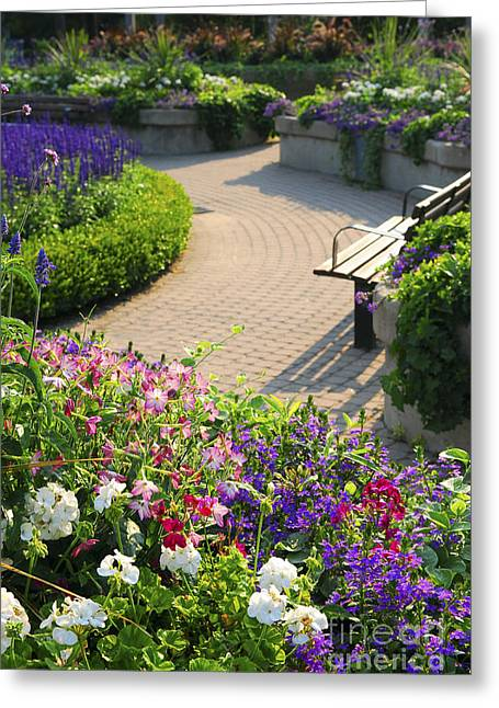 Formal Garden Greeting Card by Elena Elisseeva