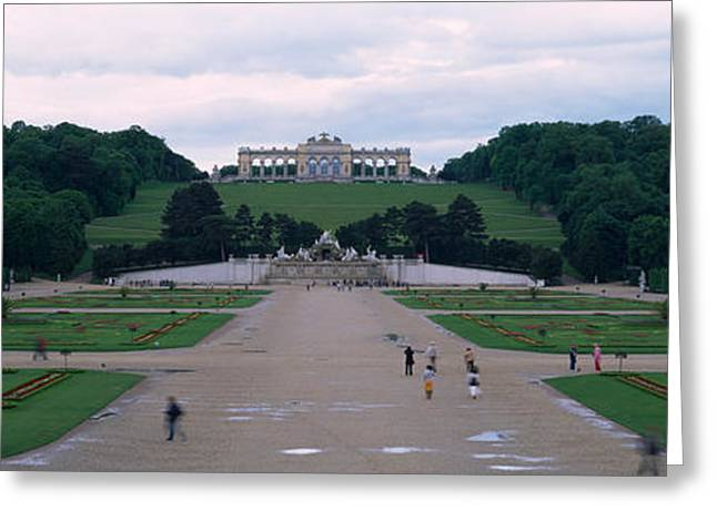 Formal Garden In Front Of A Palace Greeting Card