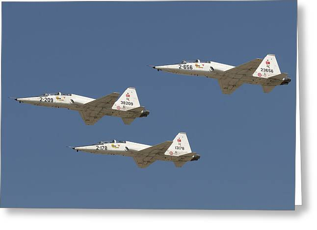 Formation Of Turkish Air Force T-38a Greeting Card by Daniele Faccioli