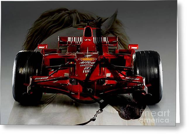 Formula One Horse Power Greeting Card