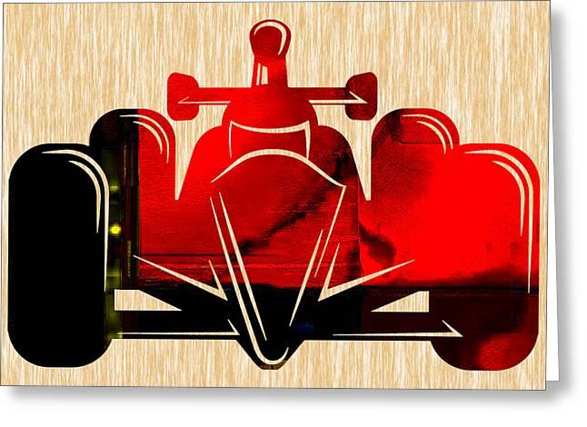 Formula One Race Car Greeting Card by Marvin Blaine