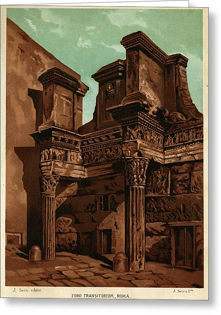 Foro Transitorum     Date 1891 Greeting Card by Mary Evans Picture Library