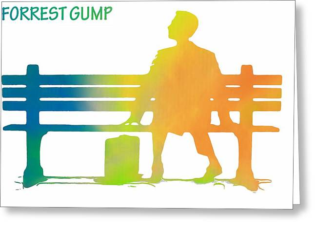 Forrest Gump Poster Greeting Card by Dan Sproul