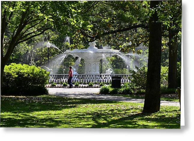 Forsyth Fountain 2 Greeting Card