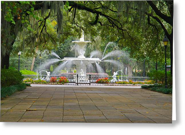 Forsyth Fountain Greeting Card