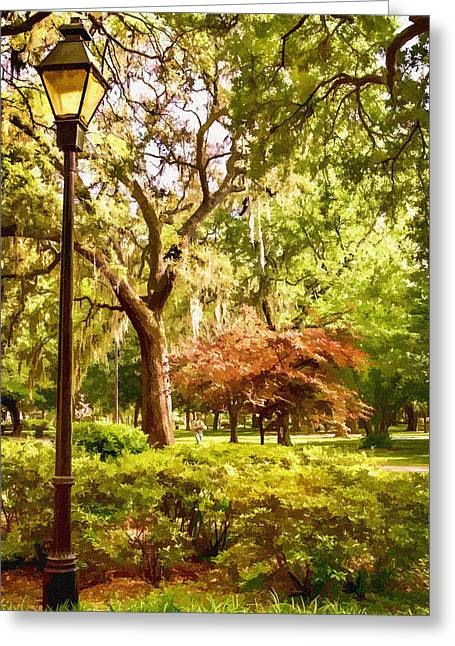 Forsythe Park View Greeting Card