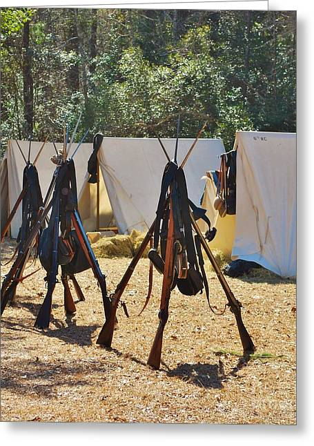 Fort Anderson Civil War Re Enactment 3 Greeting Card by Jocelyn Stephenson