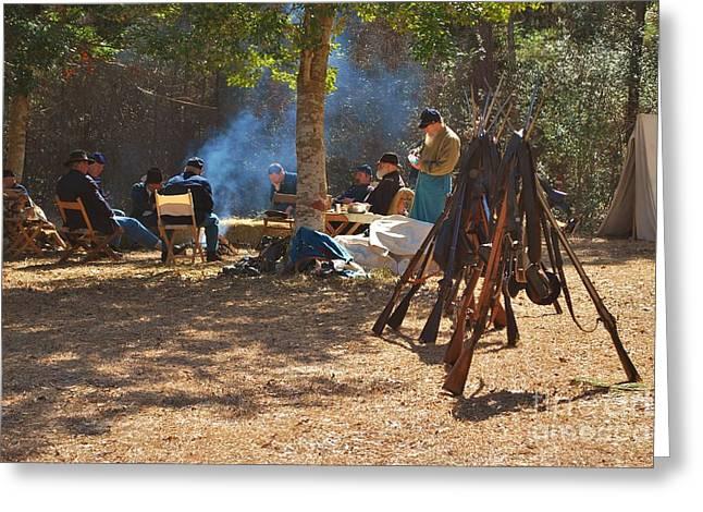 Fort Anderson Civil War Re Enactment 4 Greeting Card by Jocelyn Stephenson