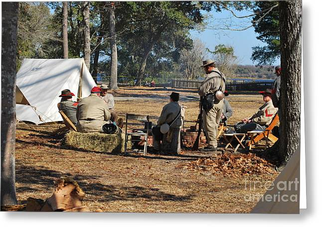 Confederate Encampment At Fort Anderson 3 Greeting Card by Jocelyn Stephenson