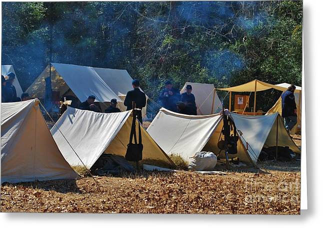 Fort Anderson Civil War Re Enactment 1 Greeting Card by Jocelyn Stephenson