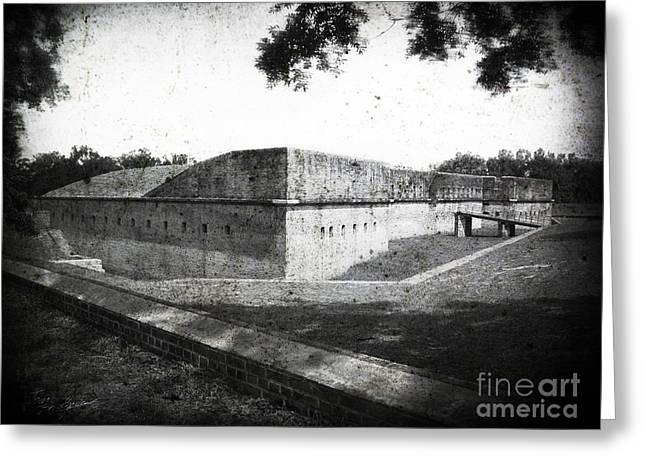 Fort Barrancas Faux Civil War Era Photograph Greeting Card