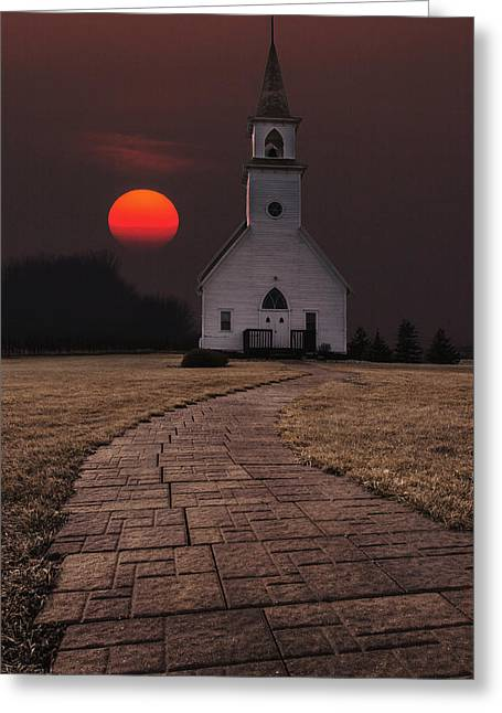 Fort Belmont Sunset Greeting Card