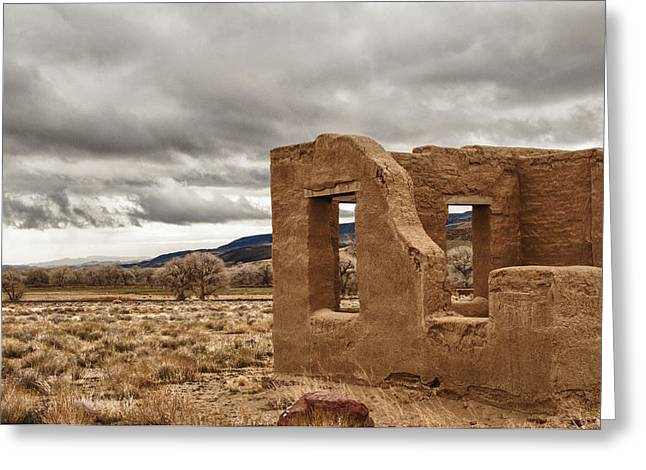 Greeting Card featuring the photograph Fort Churchill Nevada by Janis Knight