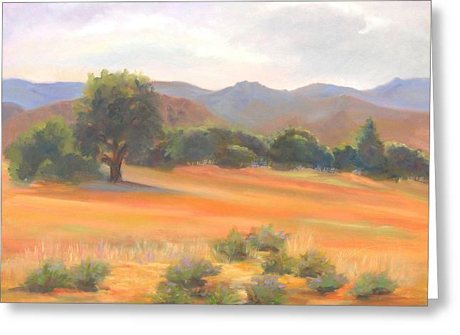 Fort Collins Foothills Greeting Card by Marcy Silverstein