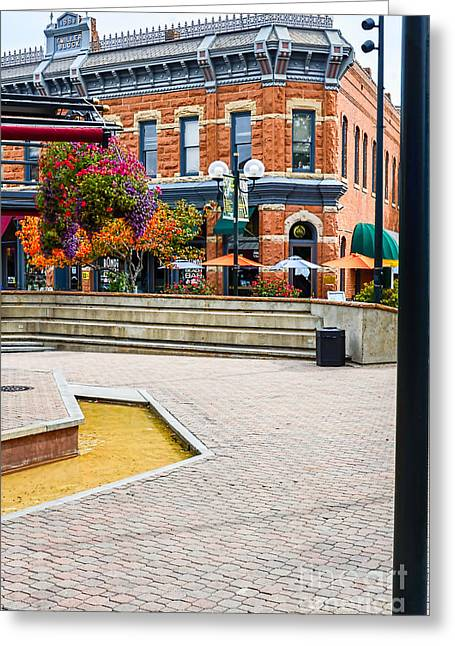Fort Collins Square Greeting Card by Keith Ducker