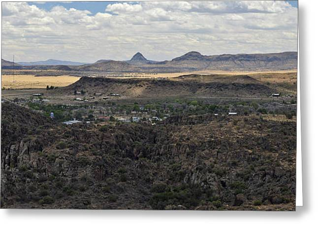 Fort Davis From Davis Mountains State Park Greeting Card by Allen Sheffield