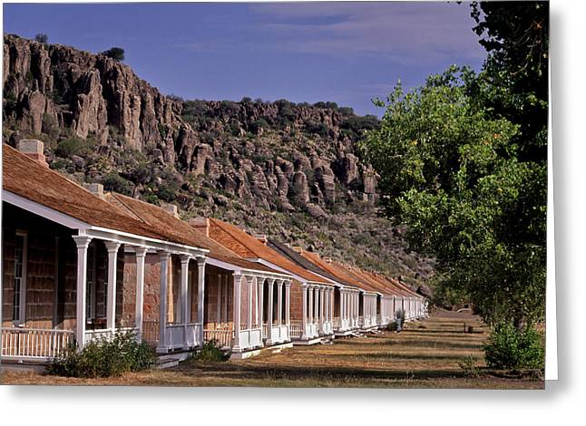 Fort Davis Officer's Quarters Greeting Card by David and Carol Kelly
