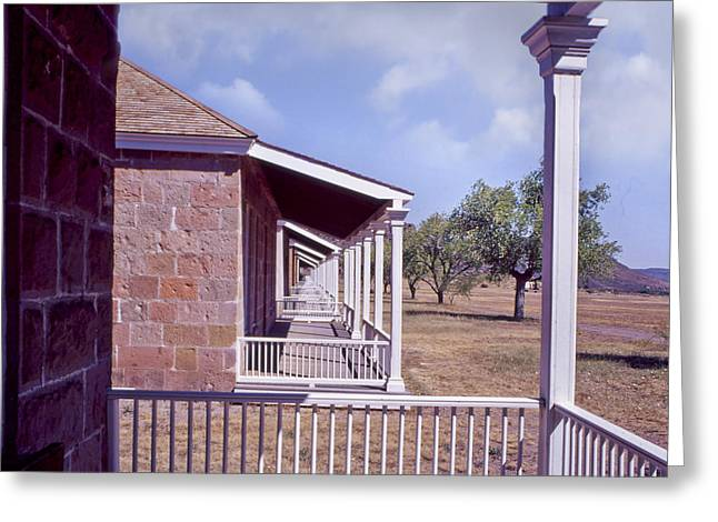 Fort Davis Perspective Greeting Card by David and Carol Kelly