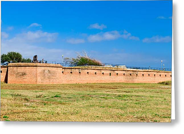 Fort Gaines On Dauphin Island, Alabama Greeting Card by Panoramic Images