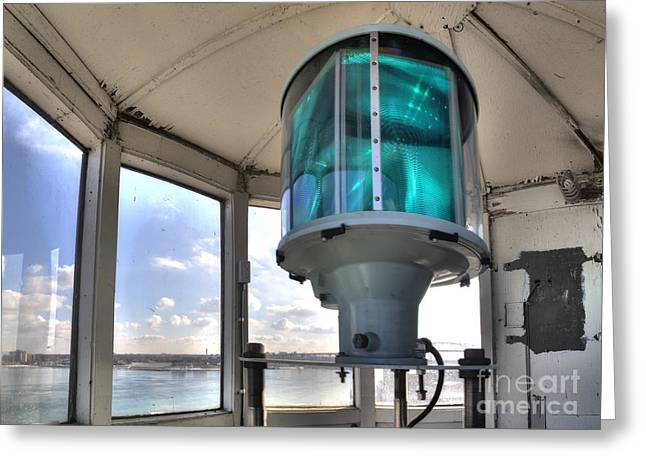 Fort Gratiot Lighthouse Lantern Room Greeting Card