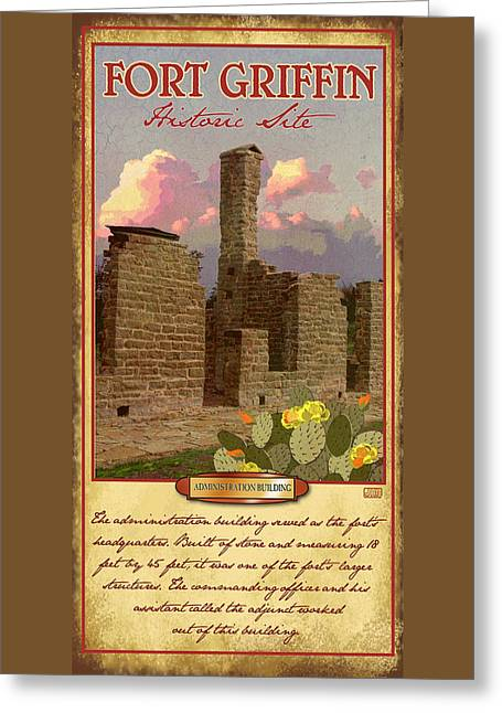 Fort Griffin Historic Site Greeting Card by Jim Sanders