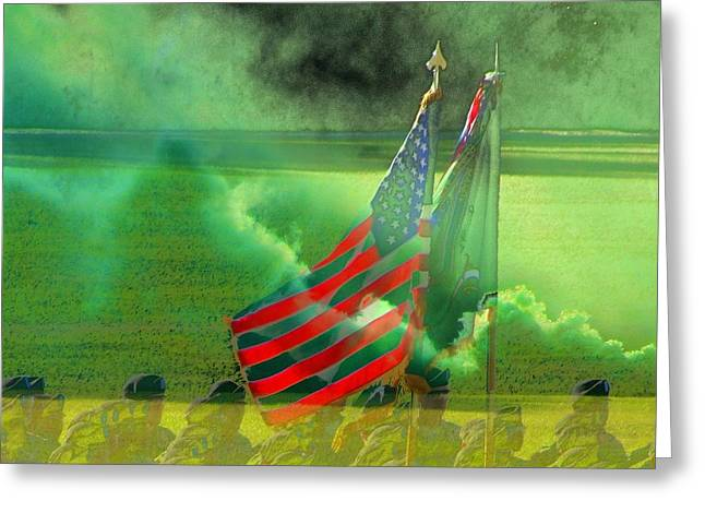 Fort Jackson Ceremony Greeting Card by Cathy Lindsey