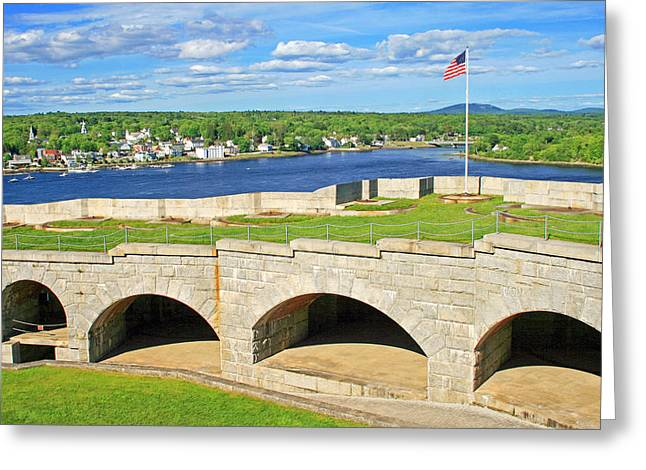 Fort Knox In Maine Greeting Card