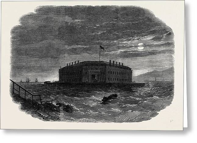 Fort Lafayette The Federal Bastille For Political Prisoners Greeting Card by English School