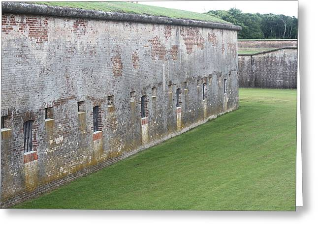 Fort Macon 12 Greeting Card by Cathy Lindsey